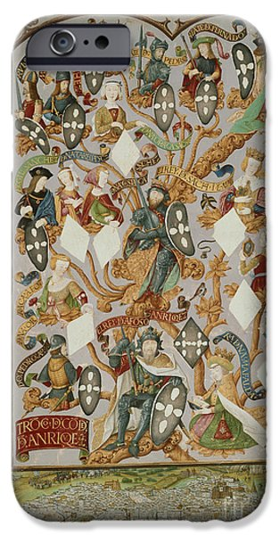 Genealogy iPhone Cases - Genealogy Of Kings Of Portugal iPhone Case by British Library