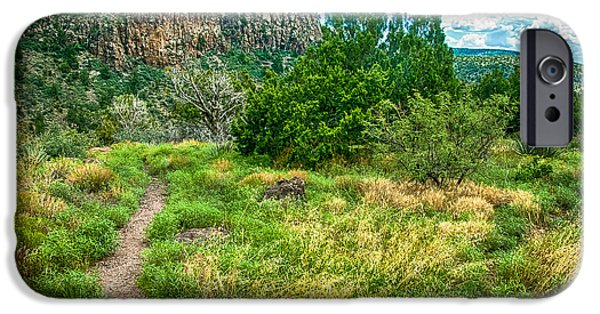 Soldiers National Cemetery Digital iPhone Cases - General Crook Trail in the Arizona Mountains iPhone Case by  Bob and Nadine Johnston