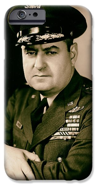 1950s Portraits iPhone Cases - General Curtis LeMay 1950s iPhone Case by Mountain Dreams