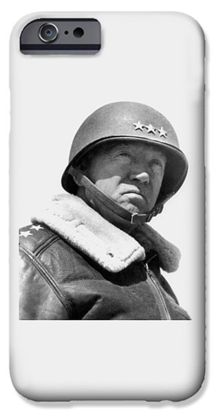 Patriots iPhone Cases - General George Patton iPhone Case by War Is Hell Store