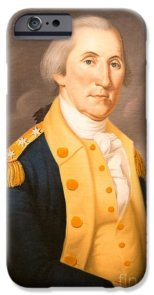 President iPhone Cases - General George Washington ca 1790 iPhone Case by Charles Peale Polk