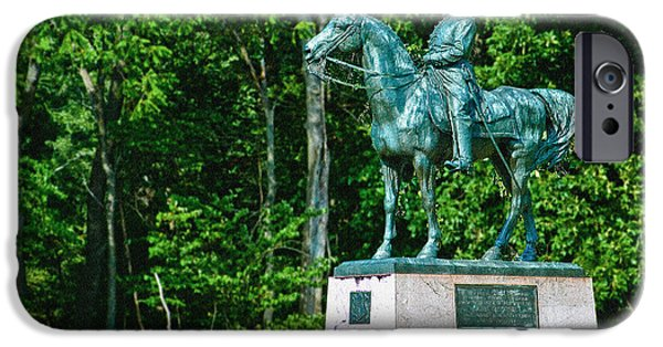 Yorktown iPhone Cases - General John Sedgewick Gettysburg Battleground iPhone Case by  Bob and Nadine Johnston