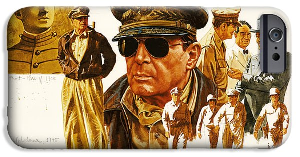 U.s Heroes iPhone Cases - General MacArthur iPhone Case by Dick Bobnick