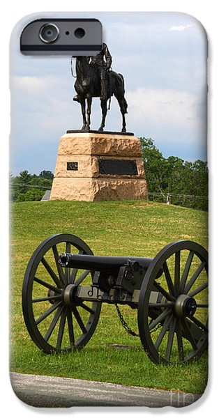 General Meade Monument and Cannon iPhone Case by James Brunker