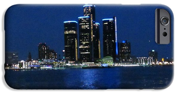 4th July Paintings iPhone Cases - General Motors Headquarters iPhone Case by Michael Rucker