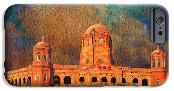 Pakistan iPhone Cases - General Post Office Lahore iPhone Case by Catf
