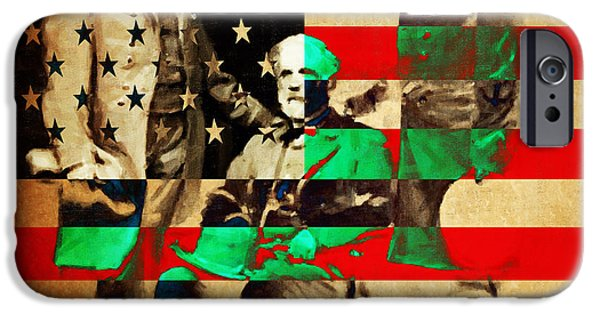 July 4th iPhone Cases - General Robert E Lee iPhone Case by Wingsdomain Art and Photography