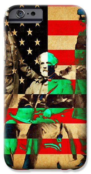 General Robert E Lee iPhone Case by Wingsdomain Art and Photography