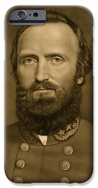 1871 iPhone Cases - General Stonewall Jackson 1871 iPhone Case by Anonymous