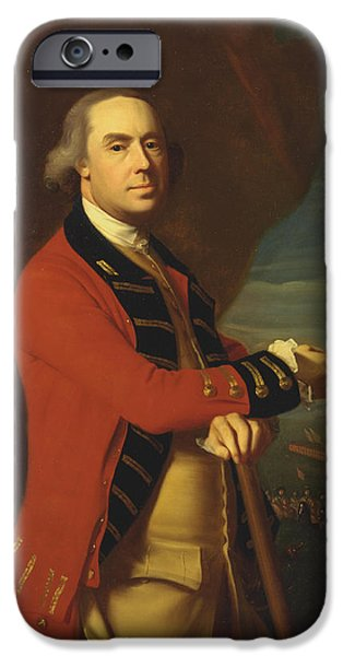 Concept Paintings iPhone Cases - General Thomas Gage iPhone Case by John Copley