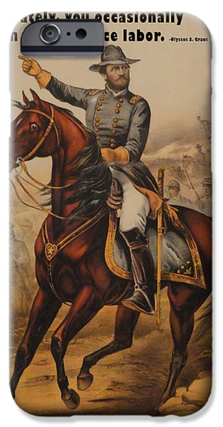 Currier iPhone Cases - General Ulysses S. Grant iPhone Case by Currier and Ives