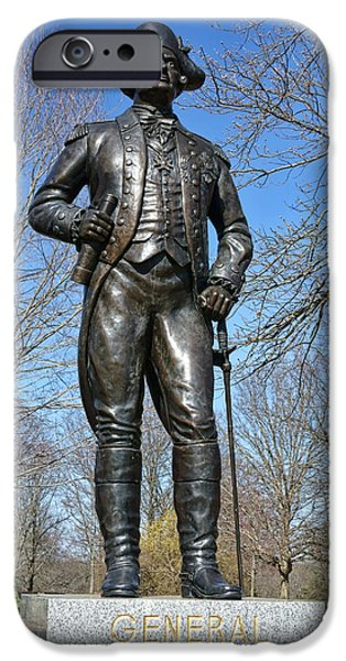 American Revolution iPhone Cases - General Von Steuben iPhone Case by Olivier Le Queinec