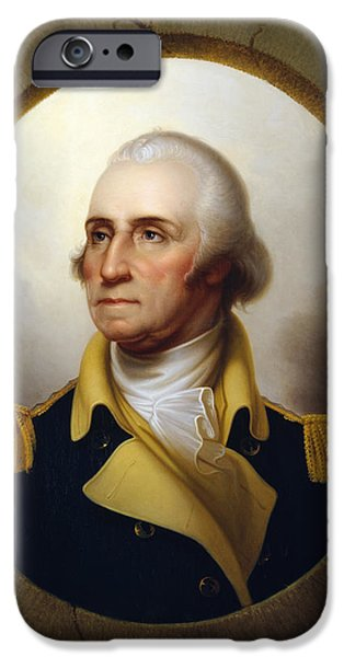 War iPhone Cases - General Washington at the Battle of Princeton iPhone Case by War Is Hell Store