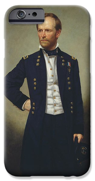 Concept Paintings iPhone Cases - General William T Sherman iPhone Case by George Alexander