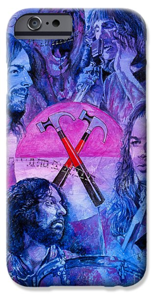 Hammer Paintings iPhone Cases - Generation Floyd iPhone Case by Igor Postash