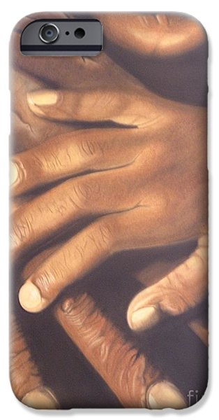 African-american Pastels iPhone Cases - Generation to Generation iPhone Case by Wil Golden