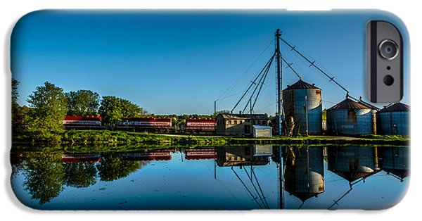 Feed Mill Photographs iPhone Cases - Genesee Mill iPhone Case by Randy Scherkenbach