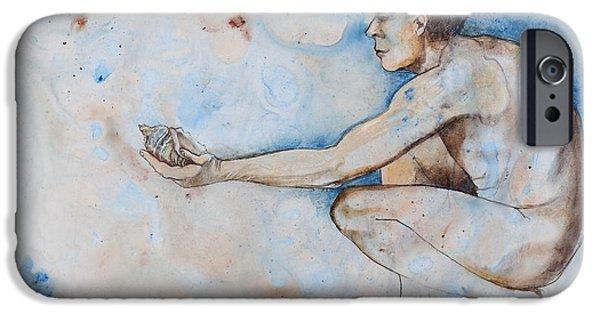 Adam Pastels iPhone Cases - Genesis iPhone Case by Judy Pfeifer