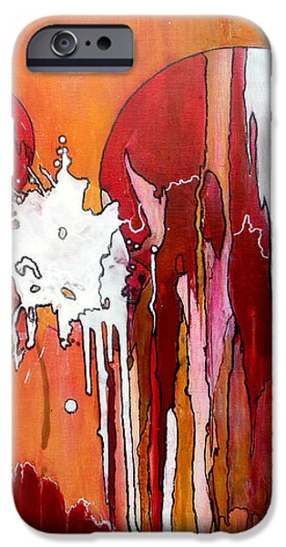 Modern Abstract iPhone Cases - Genesis - Love At First Sight iPhone Case by Jim Whalen