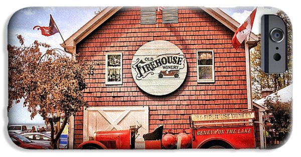 Fourth Of July iPhone Cases - Geneva on the Lake Firehouse iPhone Case by The Art of Alice Terrill