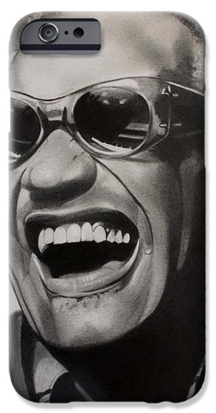 Piano Drawings iPhone Cases - Genius of Soul iPhone Case by Brian Broadway