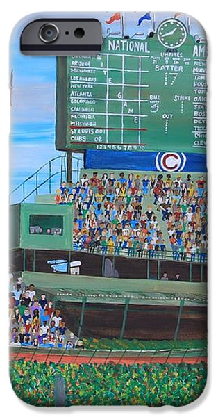 Geno at Wrigley 2014 iPhone Case by Mike Nahorniak