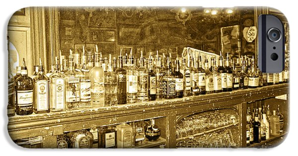 Genoa Bar iPhone Cases - Genoa Bar Oldest Saloon in Nevadas Old West History iPhone Case by Artist and Photographer Laura Wrede