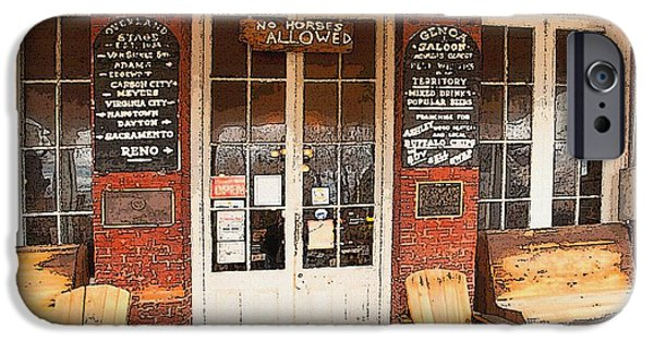 Genoa Bar iPhone Cases - Genoa Saloon Oldest Saloon in Nevada iPhone Case by Artist and Photographer Laura Wrede