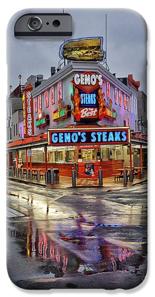 Geno's 7 iPhone Case by JACK PAOLINI
