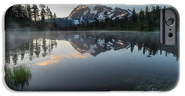 North Cascades iPhone Cases - Gentle Cascades Morning iPhone Case by Mike Reid