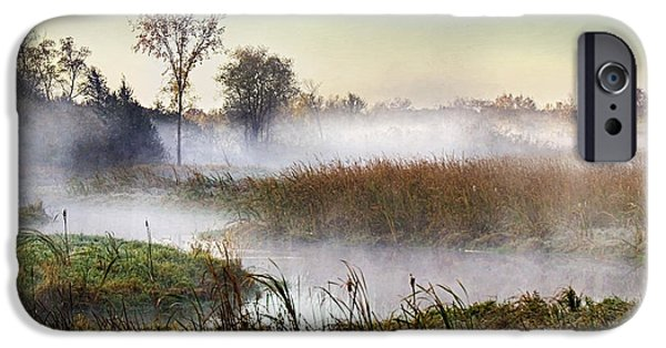 Fog Mist iPhone Cases - Gentle Fog iPhone Case by Thom Jewell