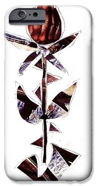 Xerox iPhone Cases - Gentle Man Hand Flower iPhone Case by Debra Amerson
