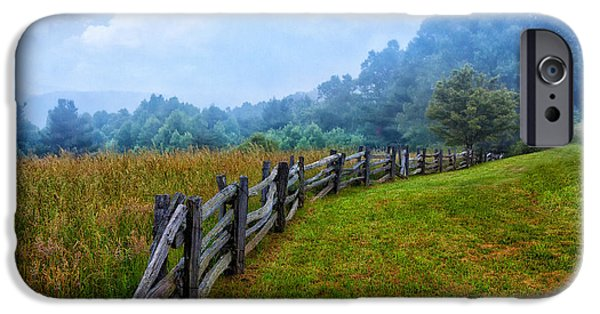 Tree Art Print iPhone Cases - Gentle Morning - Blue Ridge Parkway I iPhone Case by Dan Carmichael