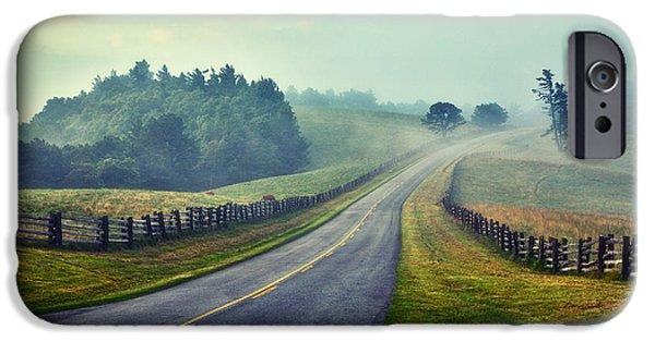 Paint Photograph iPhone Cases - Gentle Morning - Blue Ridge Parkway II iPhone Case by Dan Carmichael