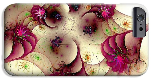 Abstract Digital Mixed Media iPhone Cases - Gentle Pink iPhone Case by Anastasiya Malakhova