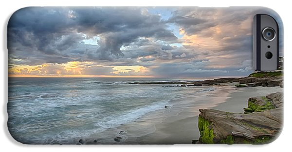 Beach Landscape iPhone Cases - Gentle Sunset iPhone Case by Peter Tellone