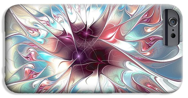 Psychedelic iPhone Cases - Gentle Touch iPhone Case by Anastasiya Malakhova