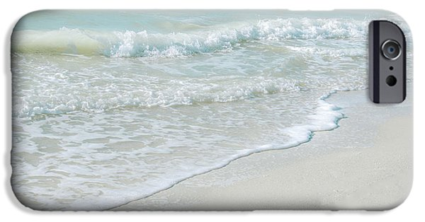 Beach Landscape iPhone Cases - Gentle Waves iPhone Case by Julie Palencia