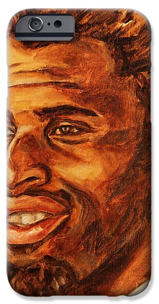 Gentleman with Goatee iPhone Case by Xueling Zou