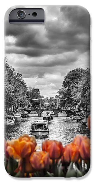 Old Town Digital iPhone Cases - Gentlemens Canal  Amsterdam iPhone Case by Melanie Viola