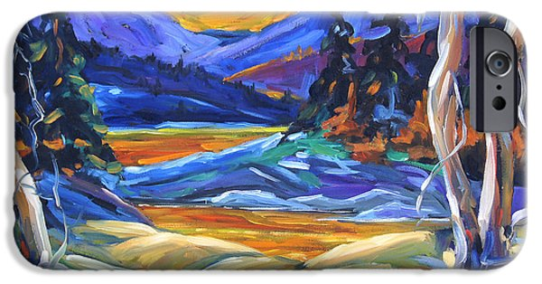 Quebec Paintings iPhone Cases - Geo Landscape II by Prankearts iPhone Case by Richard T Pranke