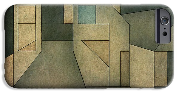 Dave Mixed Media iPhone Cases - Geometric Abstraction II iPhone Case by David Gordon