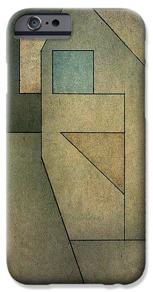 Geometric Abstraction II iPhone Case by David Gordon