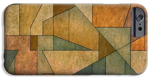 Dave Mixed Media iPhone Cases - Geometric Abstraction IV iPhone Case by David Gordon