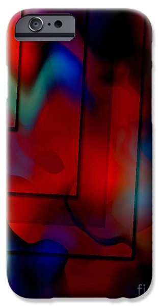 Transparency Geometric iPhone Cases - Colorful Geometric Art  iPhone Case by Mario  Perez