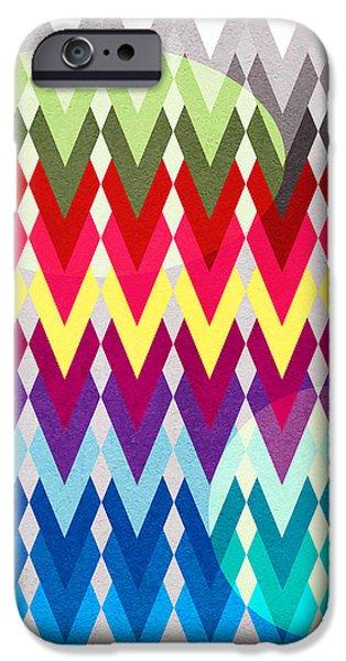geometric colors  iPhone Case by Mark Ashkenazi