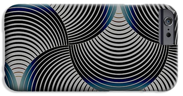 Curve iPhone Cases - Geometric Gymnastic - s01-055 iPhone Case by Variance Collections