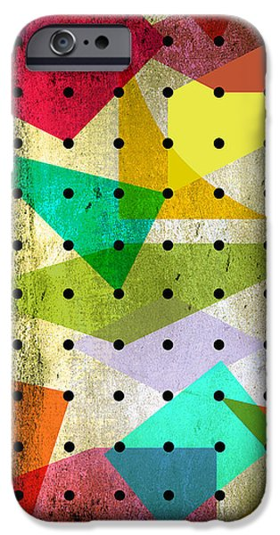 Animation iPhone Cases - Geometric In Colors  iPhone Case by Mark Ashkenazi