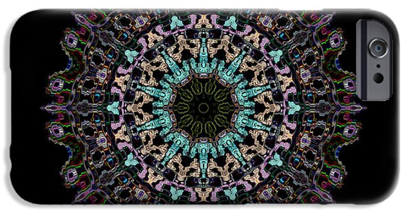 Colorful Abstract iPhone Cases - Geometric Kaleidoscope  iPhone Case by Luther   Fine Art