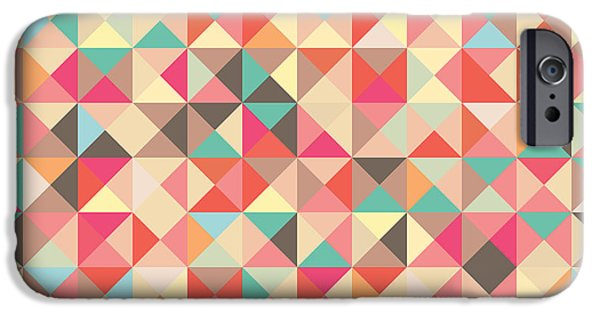Geometric Artwork iPhone Cases - Geometric Pattern iPhone Case by Mike Taylor